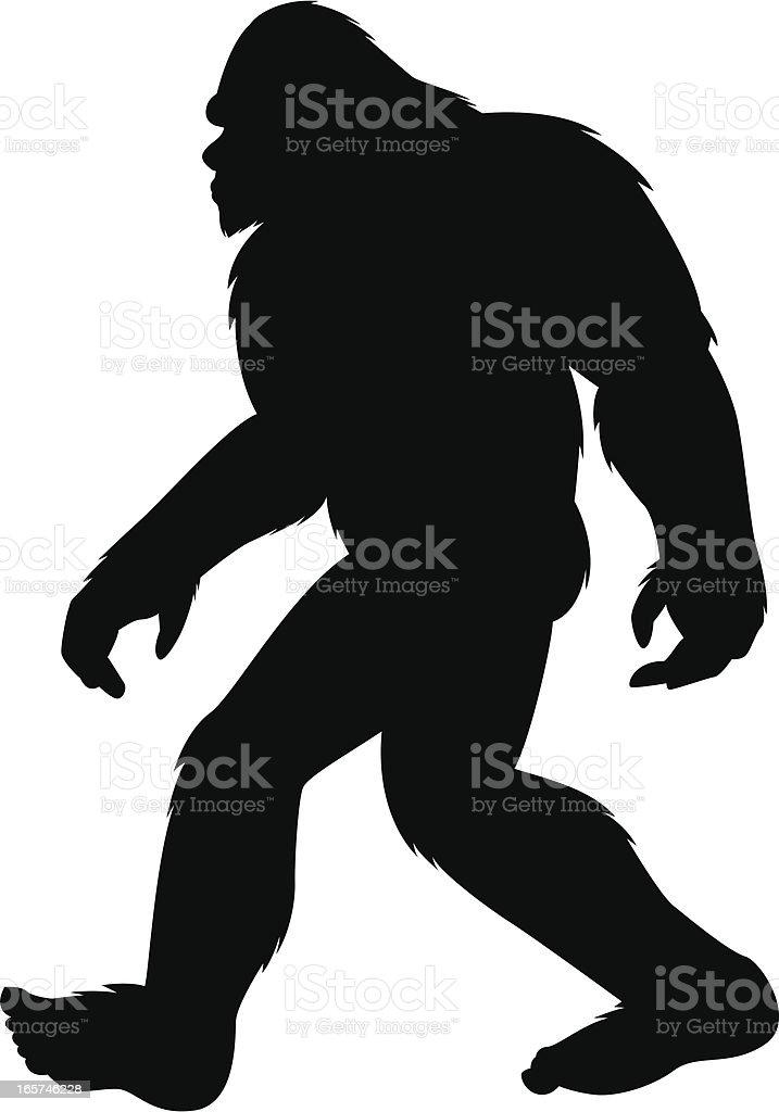 Bigfoot Silhouette stock vector art 165746228   iStock