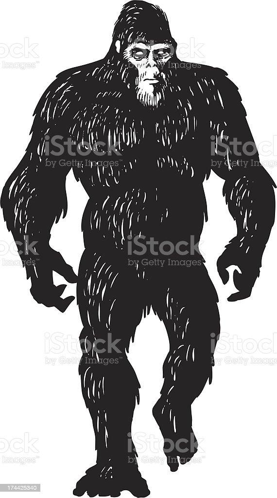 bigfoot sketch vector art illustration