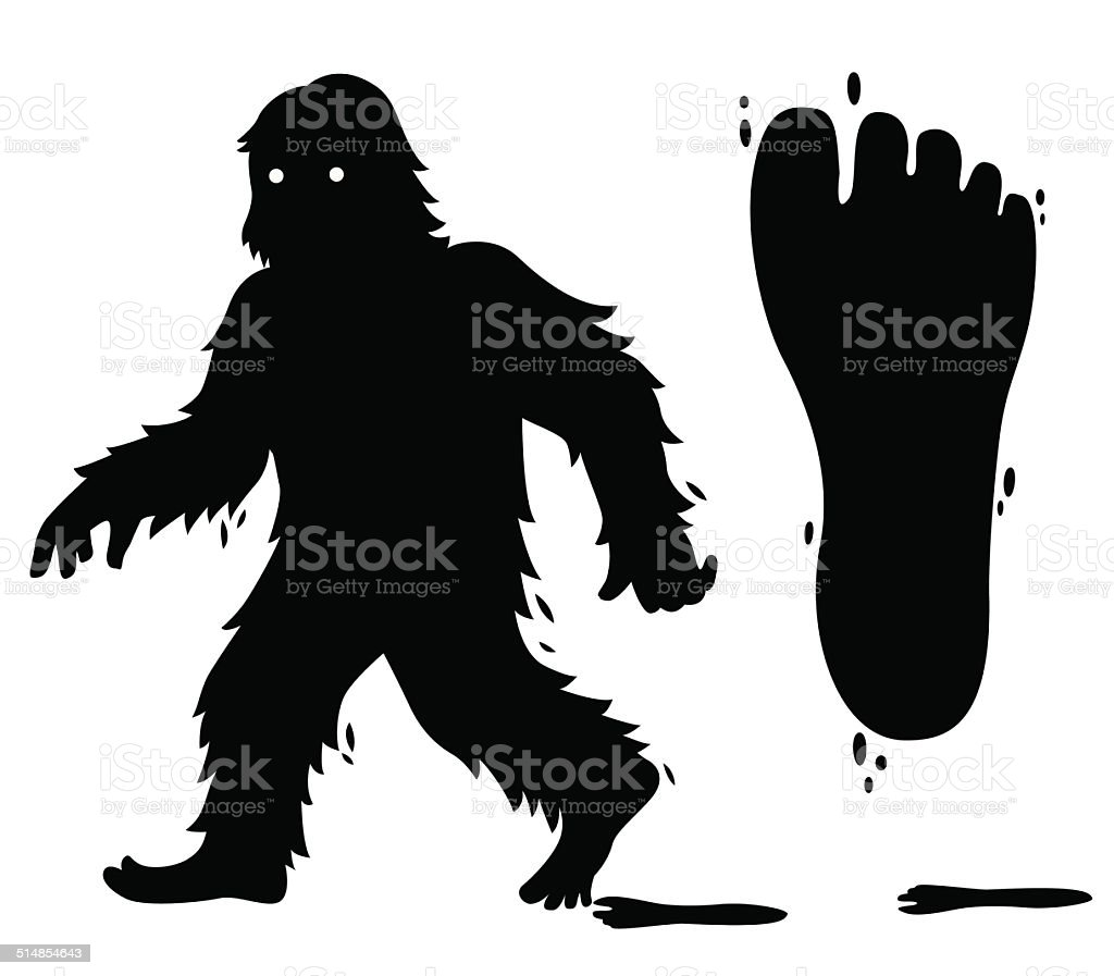 Bigfoot vector art illustration