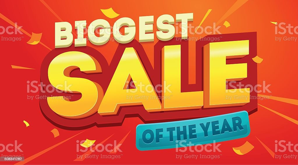 Biggest sale banner vector art illustration
