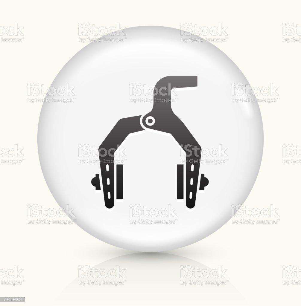 Bike Brakes icon on white round vector button vector art illustration
