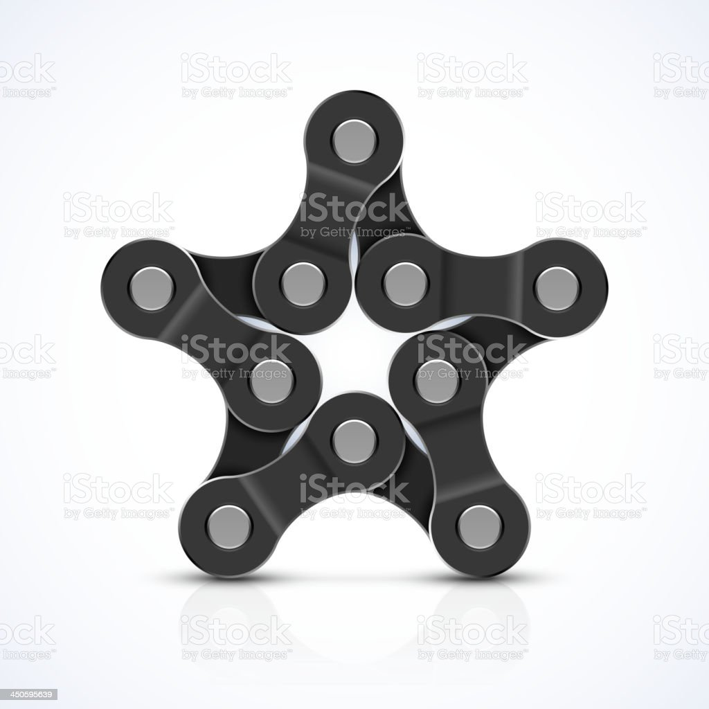 Bike chain star royalty-free stock vector art