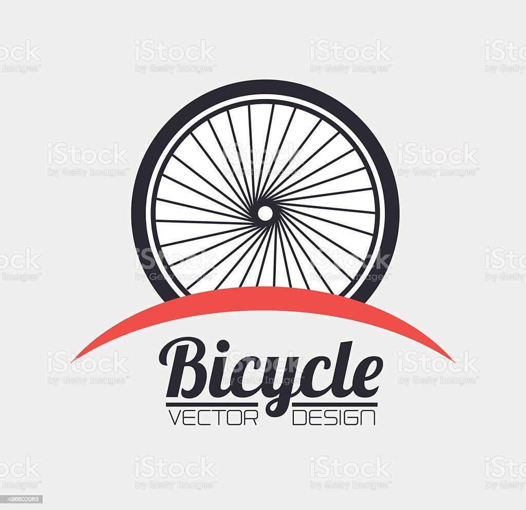 Bike design vector art illustration