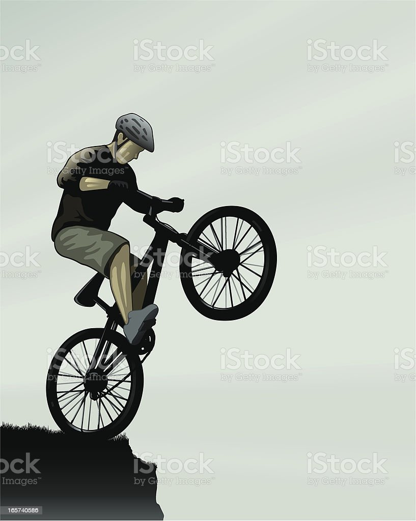 Bike edge royalty-free stock vector art
