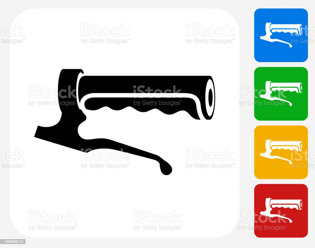 Bike Handle Icon Flat Graphic Design vector art illustration