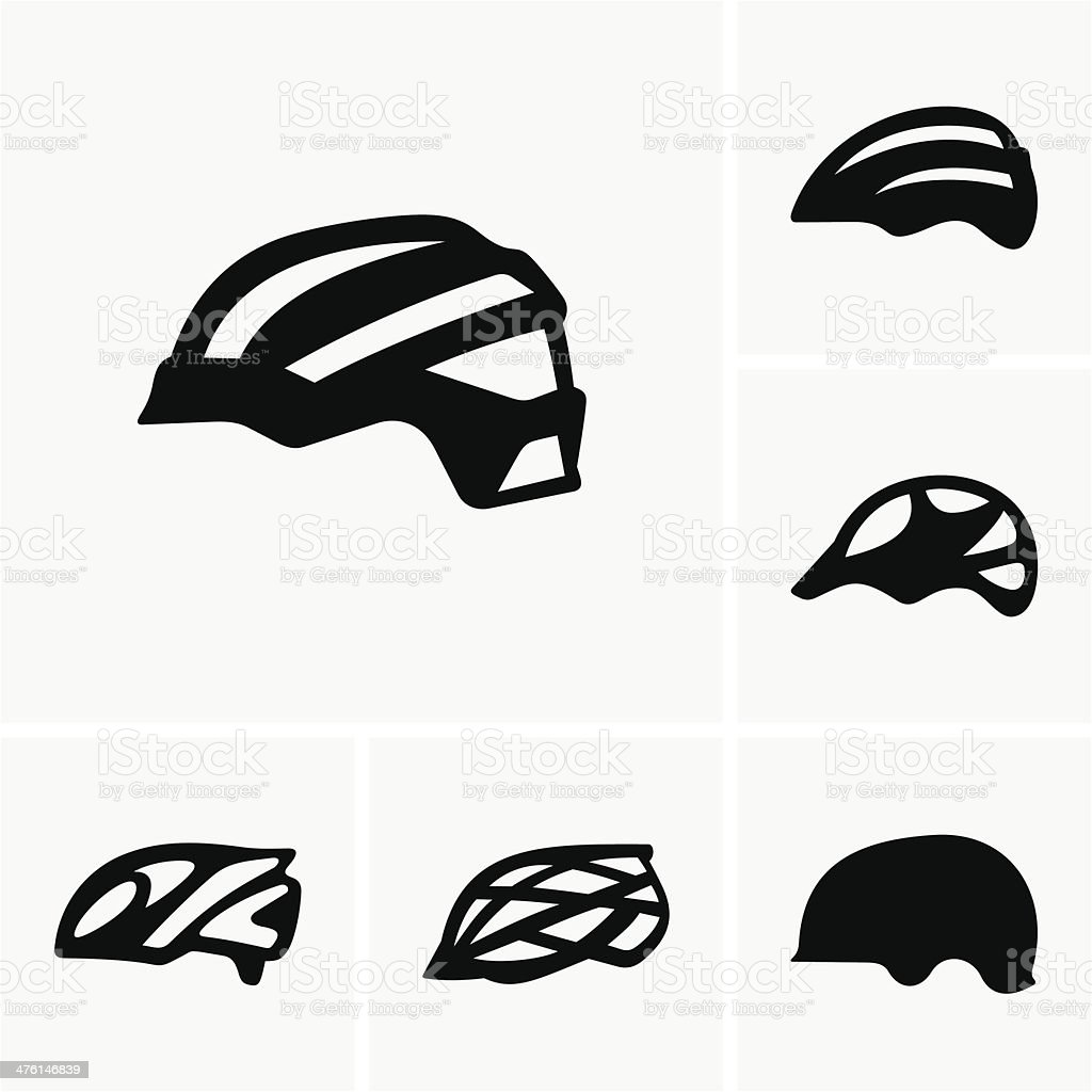 Bike helmets royalty-free stock vector art