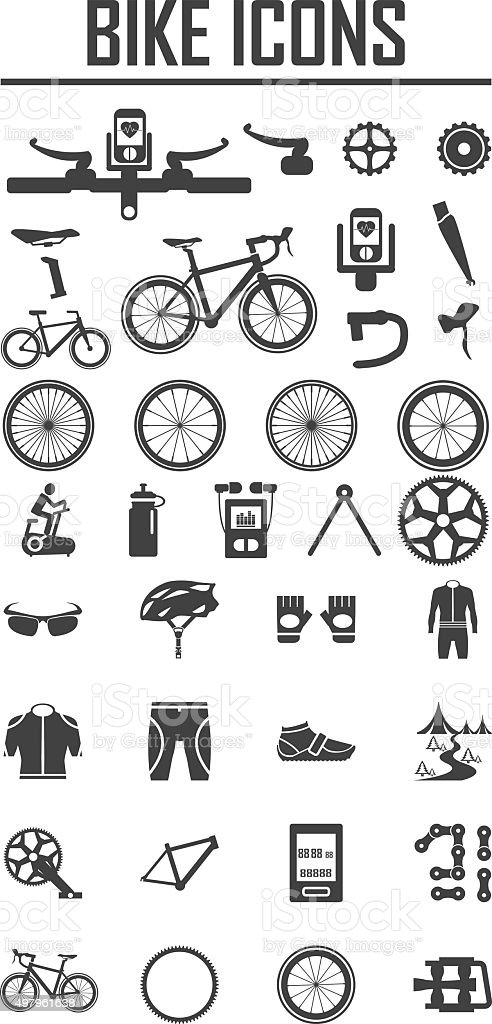bike icon vector illustration. vector art illustration