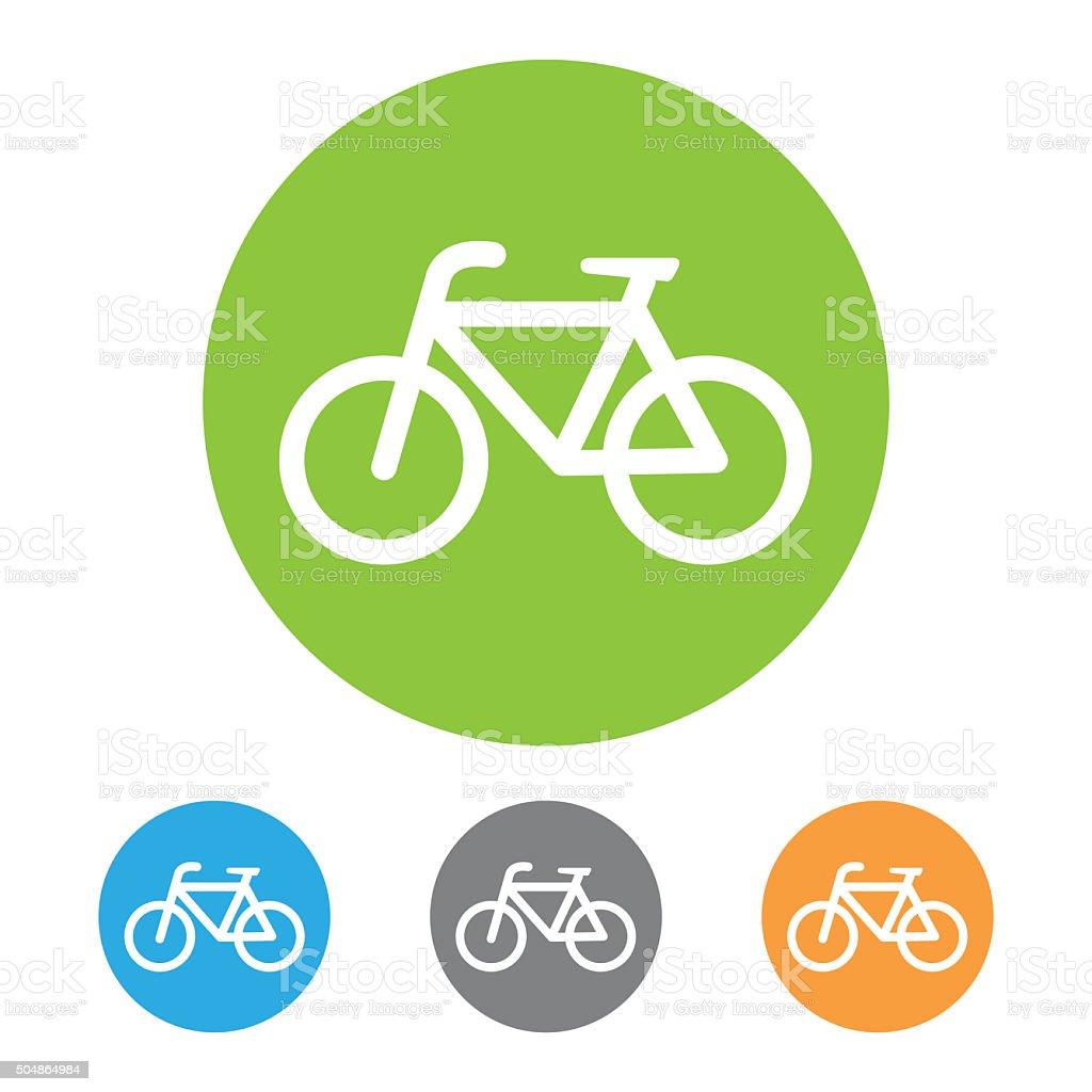 Bike icon. Vector stock photo