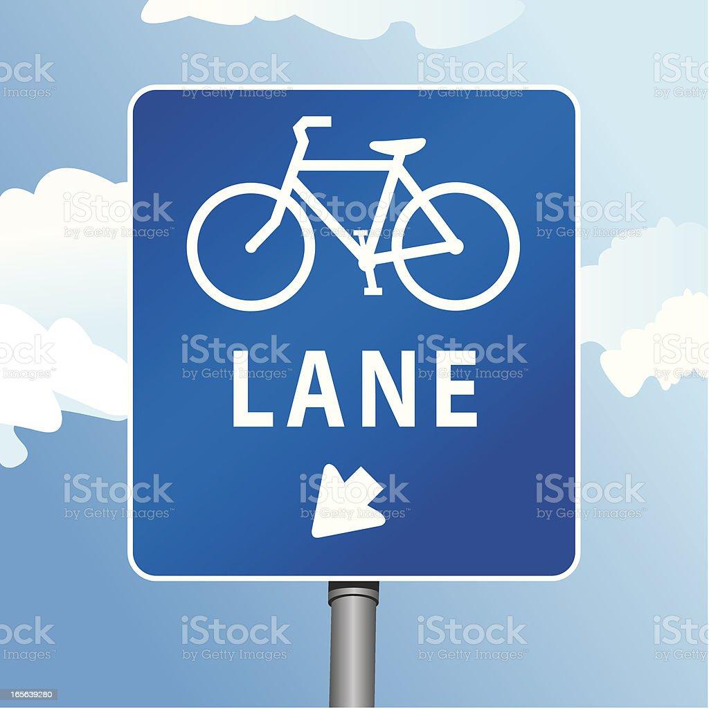 Bike Lane Sign royalty-free stock vector art