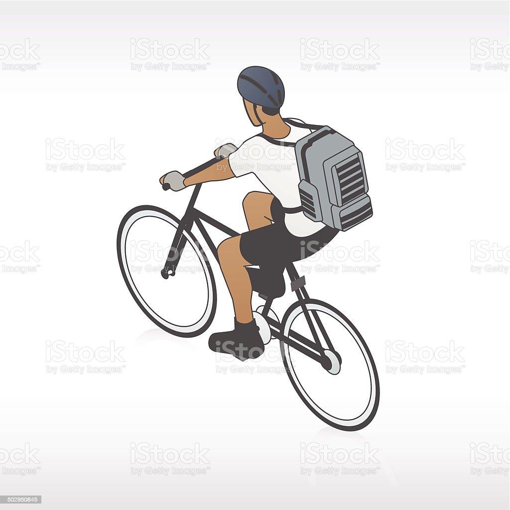 Bike Messenger Illustration vector art illustration