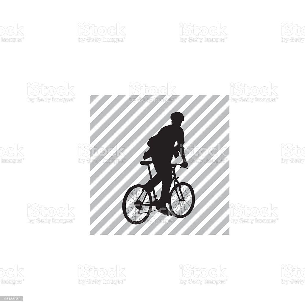 Bike messenger vector art illustration