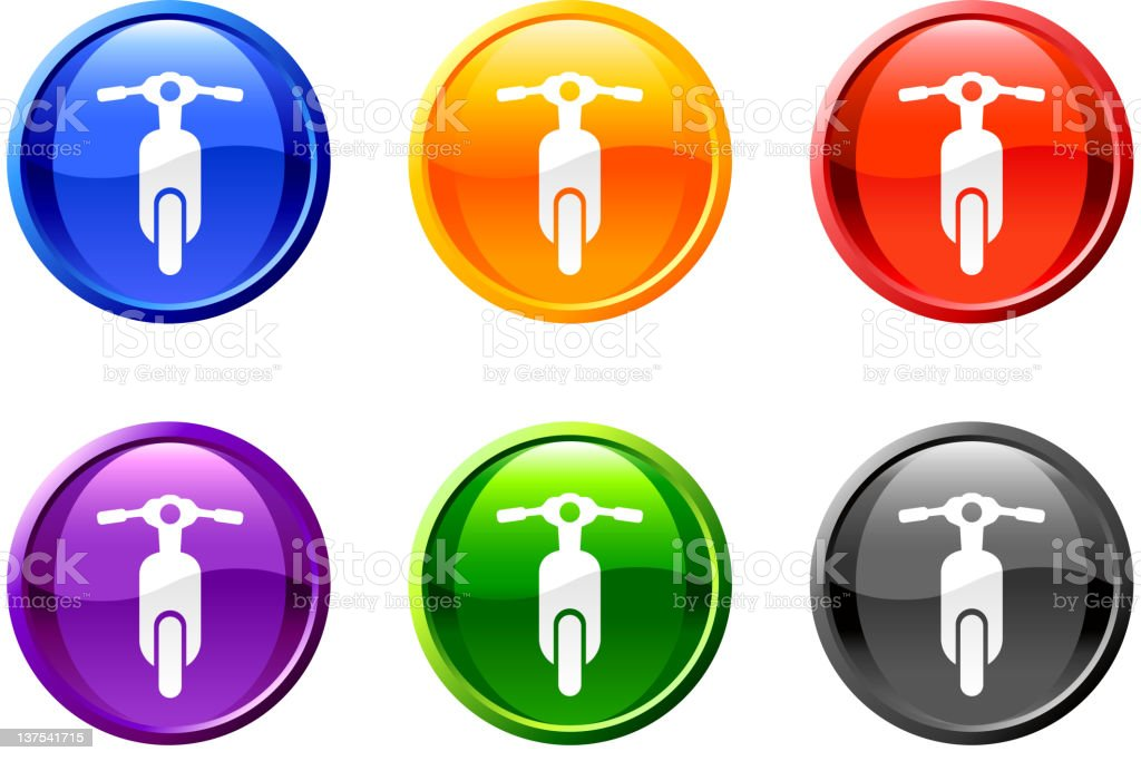 bike moped royalty free vector icon set round buttons royalty-free stock vector art