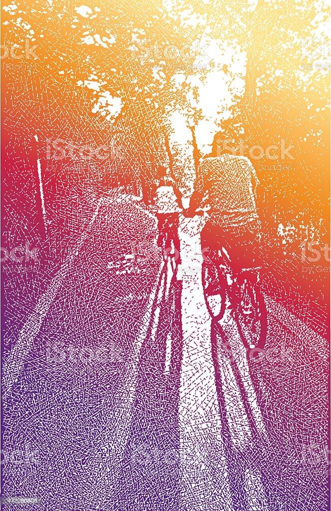 Bike Path vector art illustration