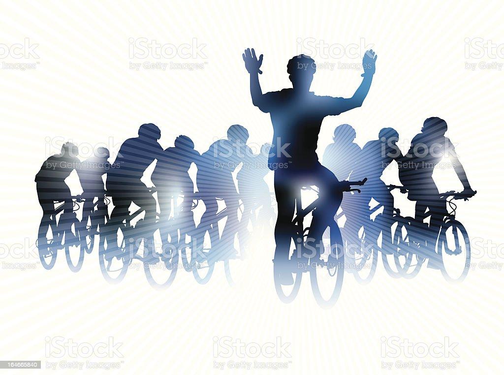 Bike race royalty-free stock vector art
