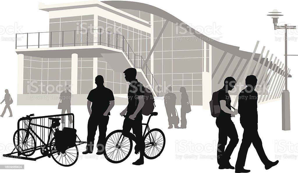 Bike Rack Vector Silhouette royalty-free stock vector art