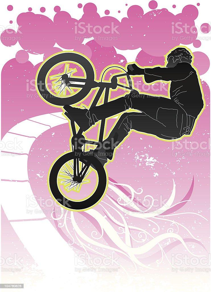bike rider #3 vector art illustration