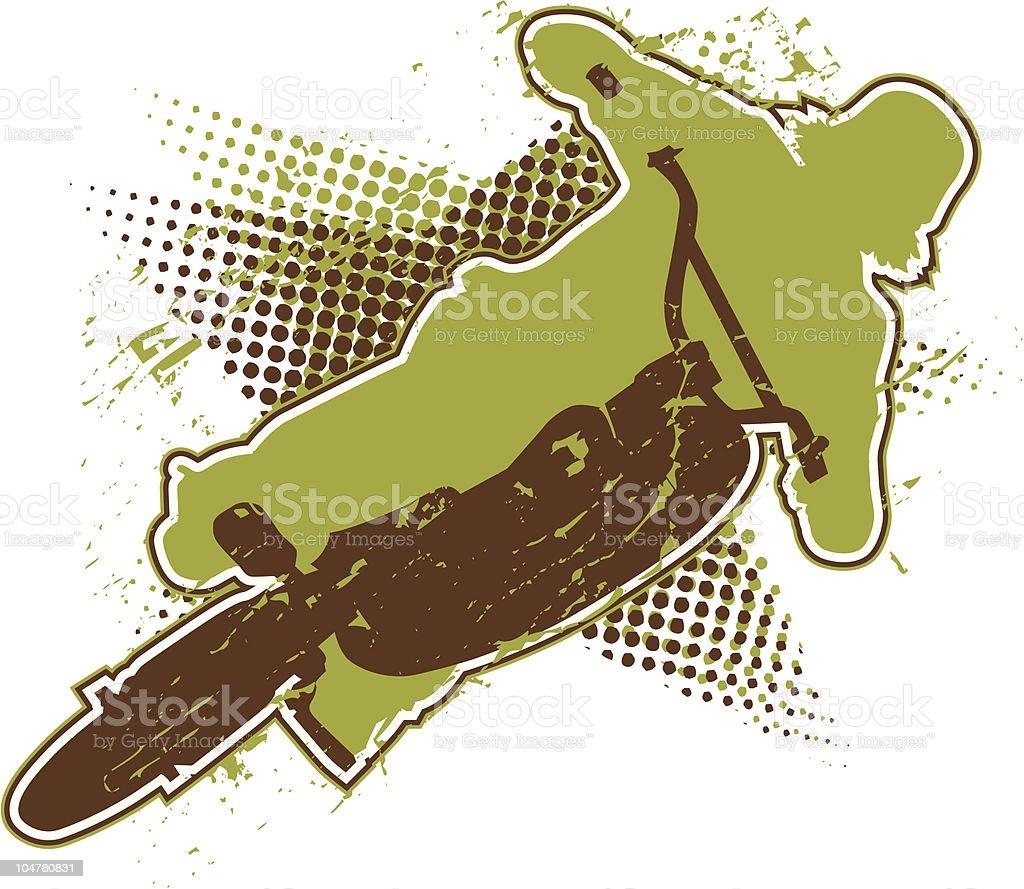 Bike rider #2 vector art illustration