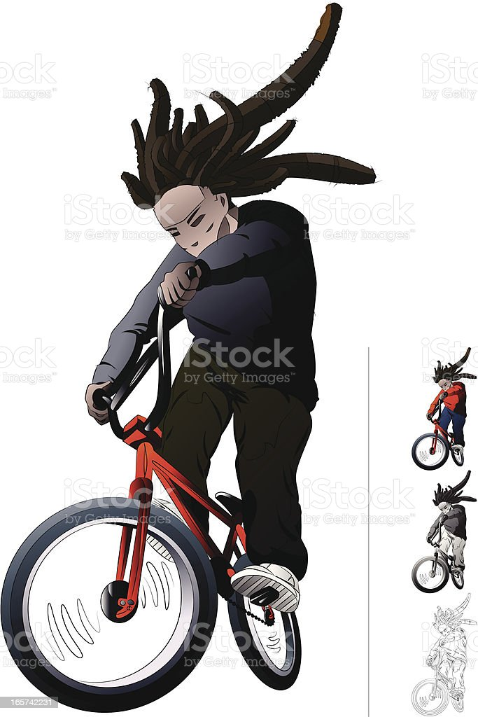 BMX Bike RIder. royalty-free stock vector art