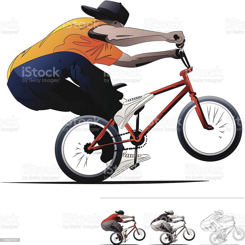 BMX Bike RIder. royalty-free stock vector art