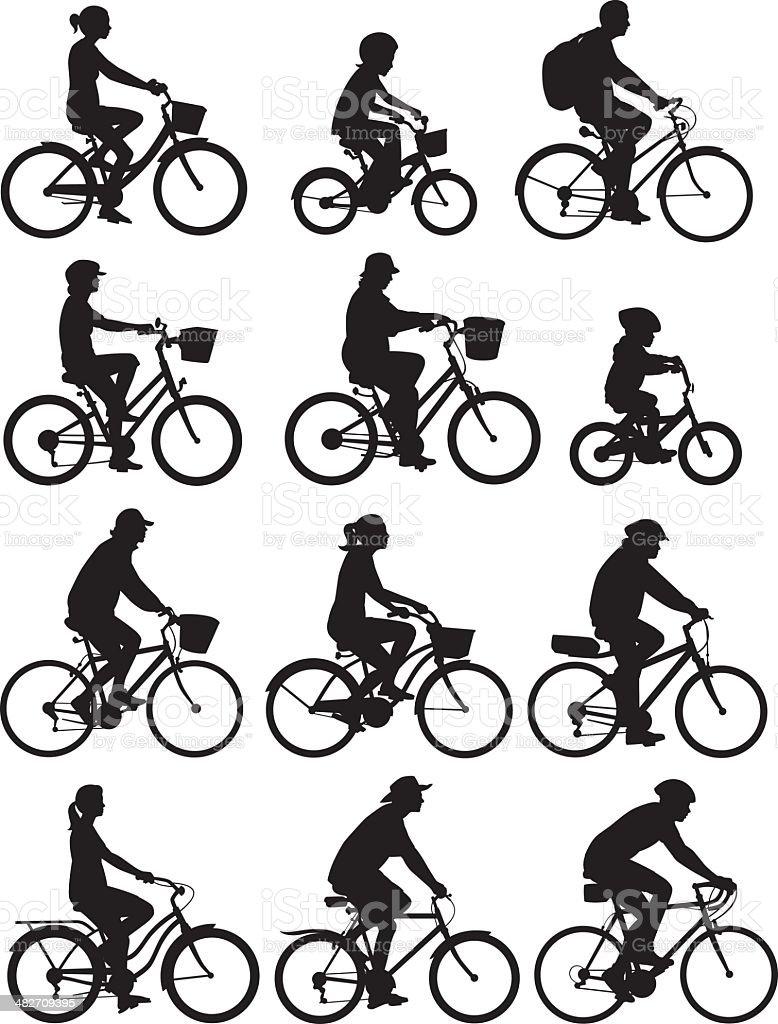 Bike Riders royalty-free stock vector art