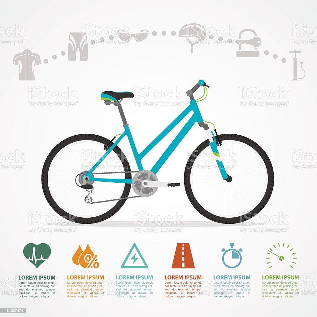 bike riding infographic vector art illustration