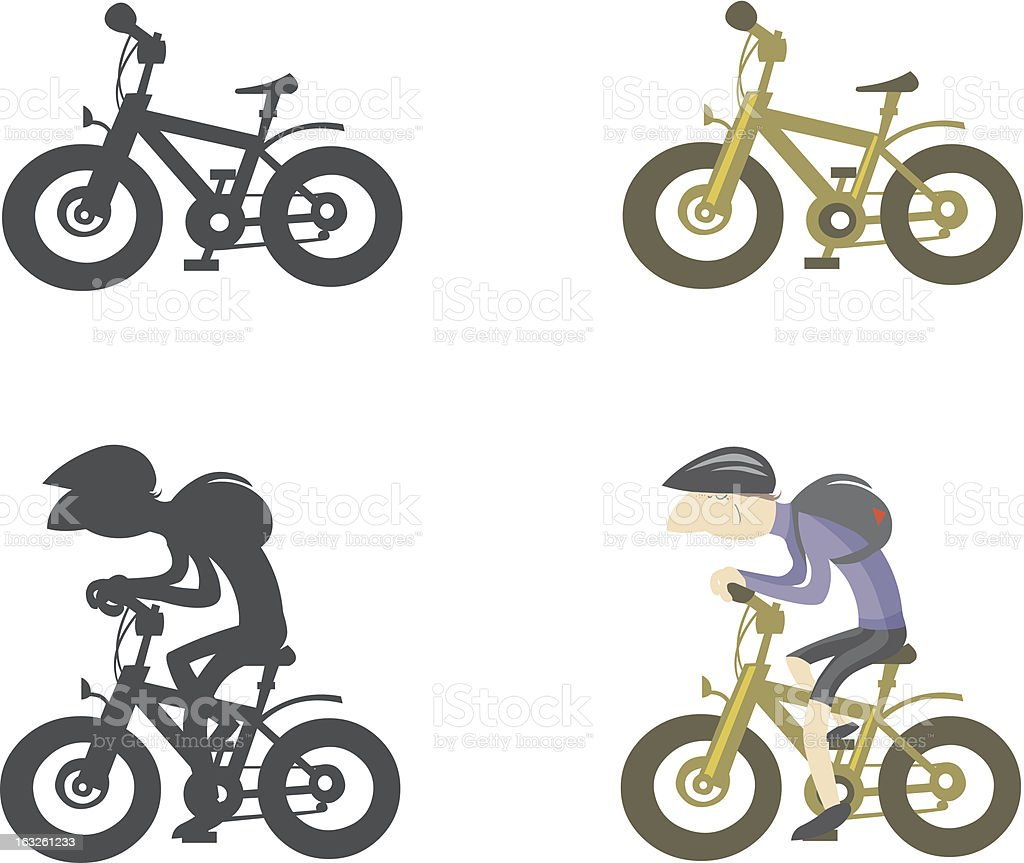 Bike silhouettes. royalty-free stock vector art