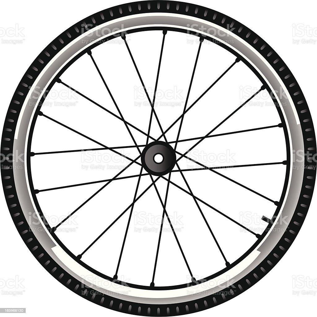 bike tire vector art illustration