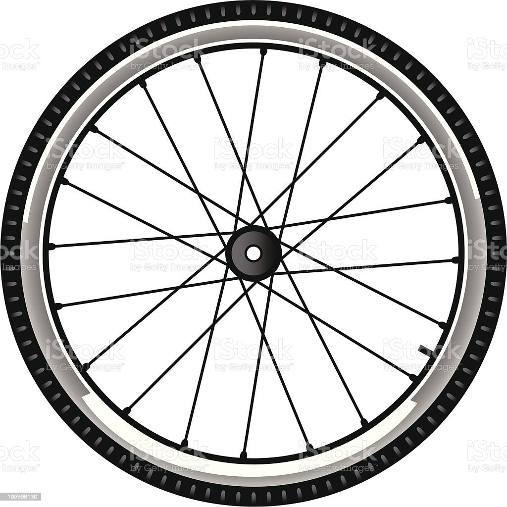 bike tire vector art illustration