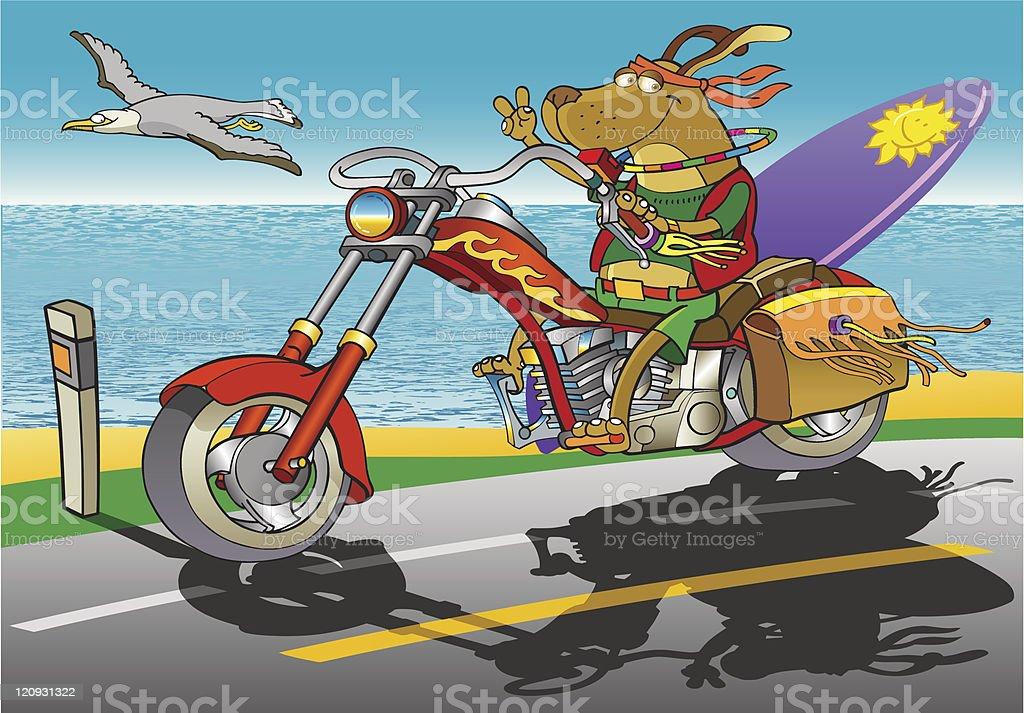 Biker Dog royalty-free stock vector art
