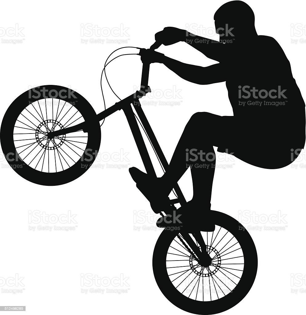 Biker silhouette vector art illustration