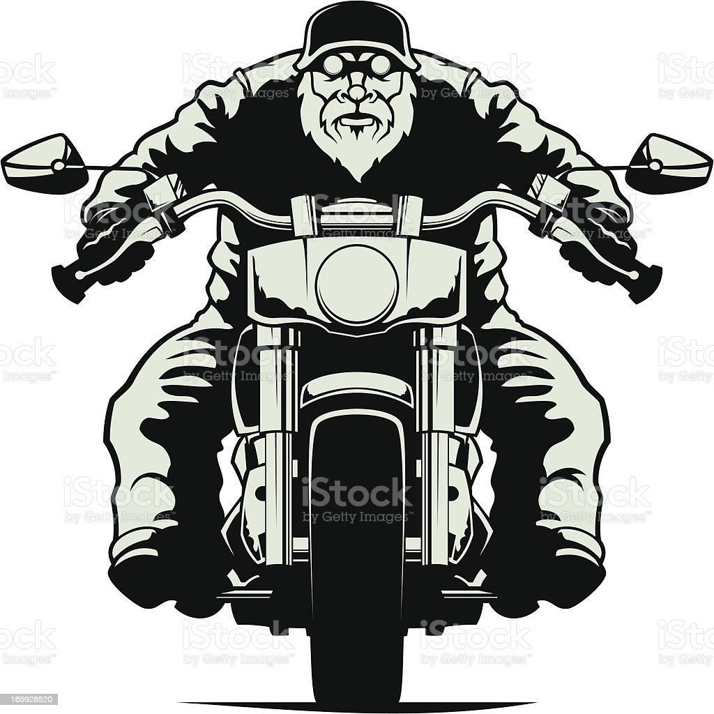 Biker vector art illustration