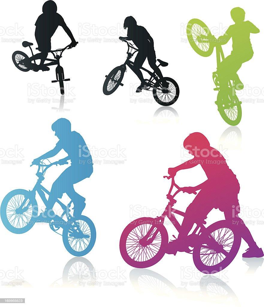BMX Biker vector art illustration