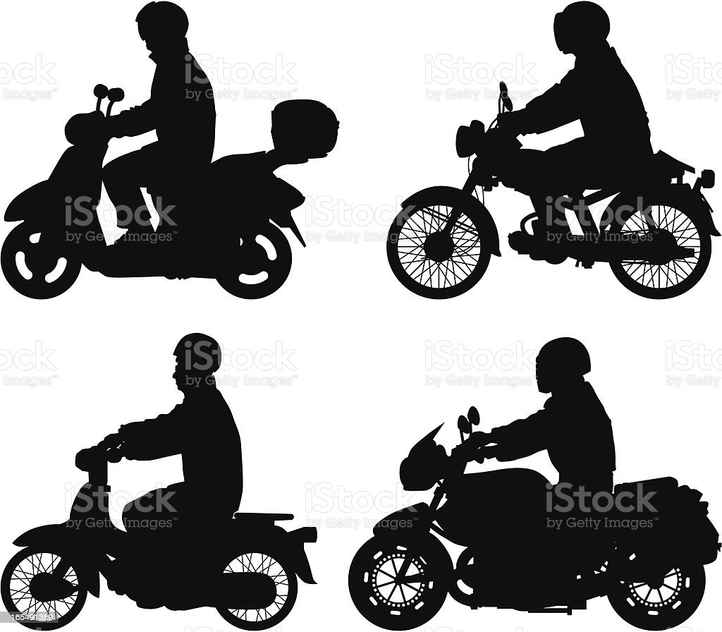 Bikers royalty-free stock vector art