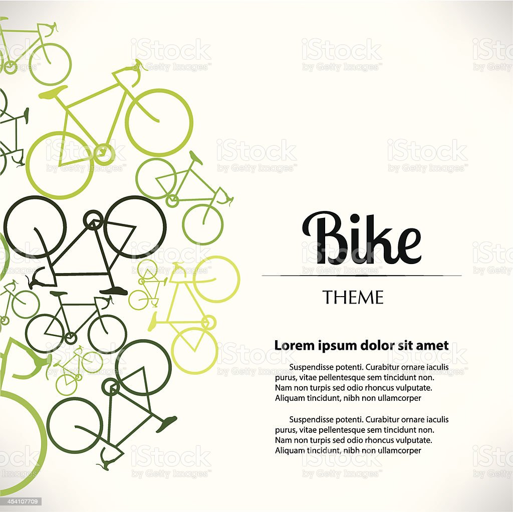 BikeTheme Print vector art illustration