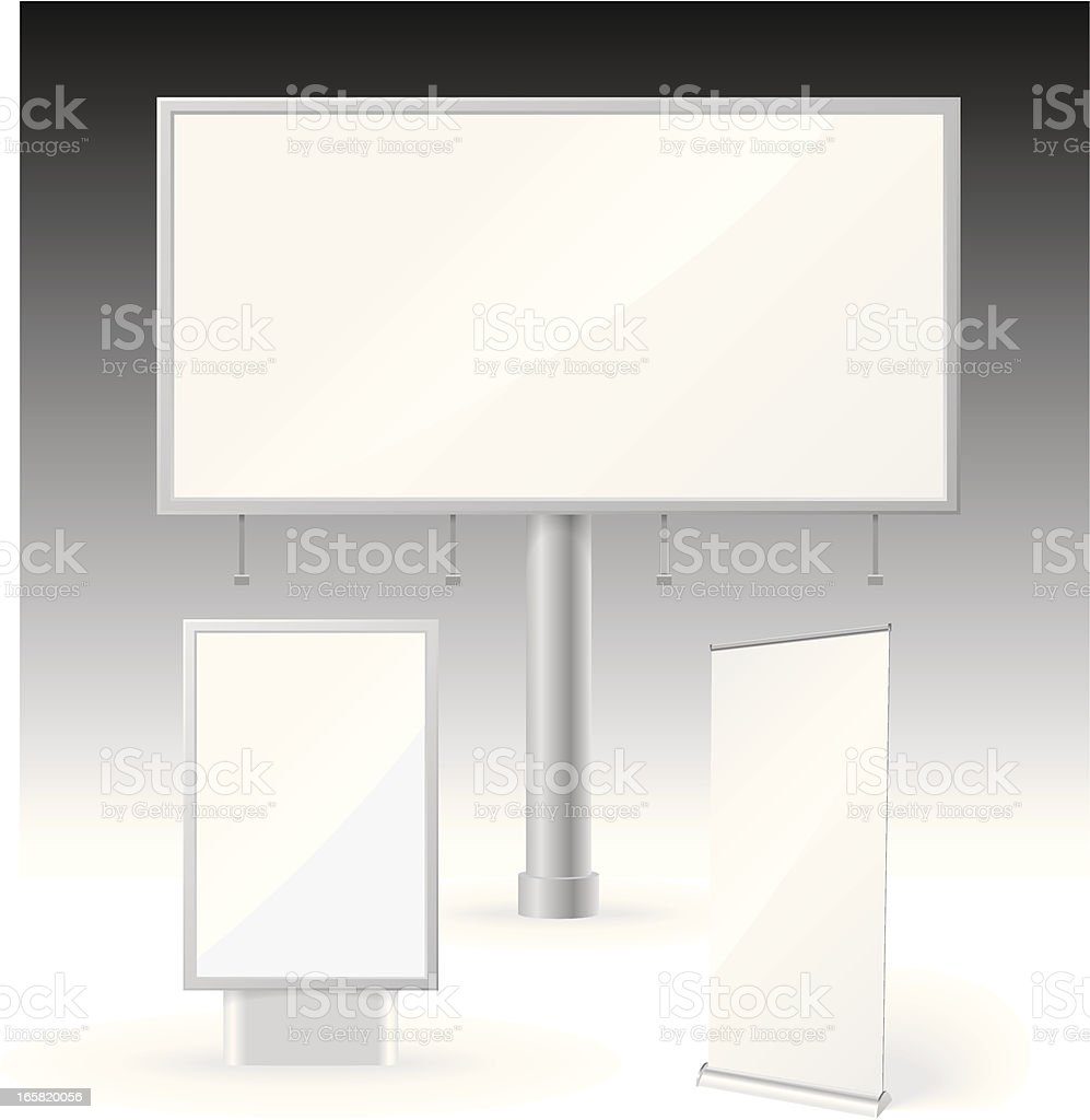 Billboard and Banner template vector art illustration