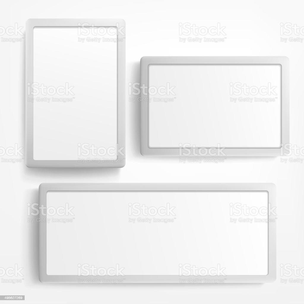 billboard and lightbox on white background vector art illustration