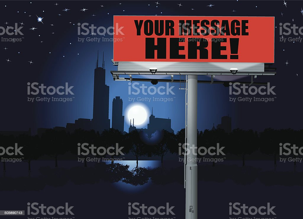 Billboard - Commercial Sign Background vector art illustration