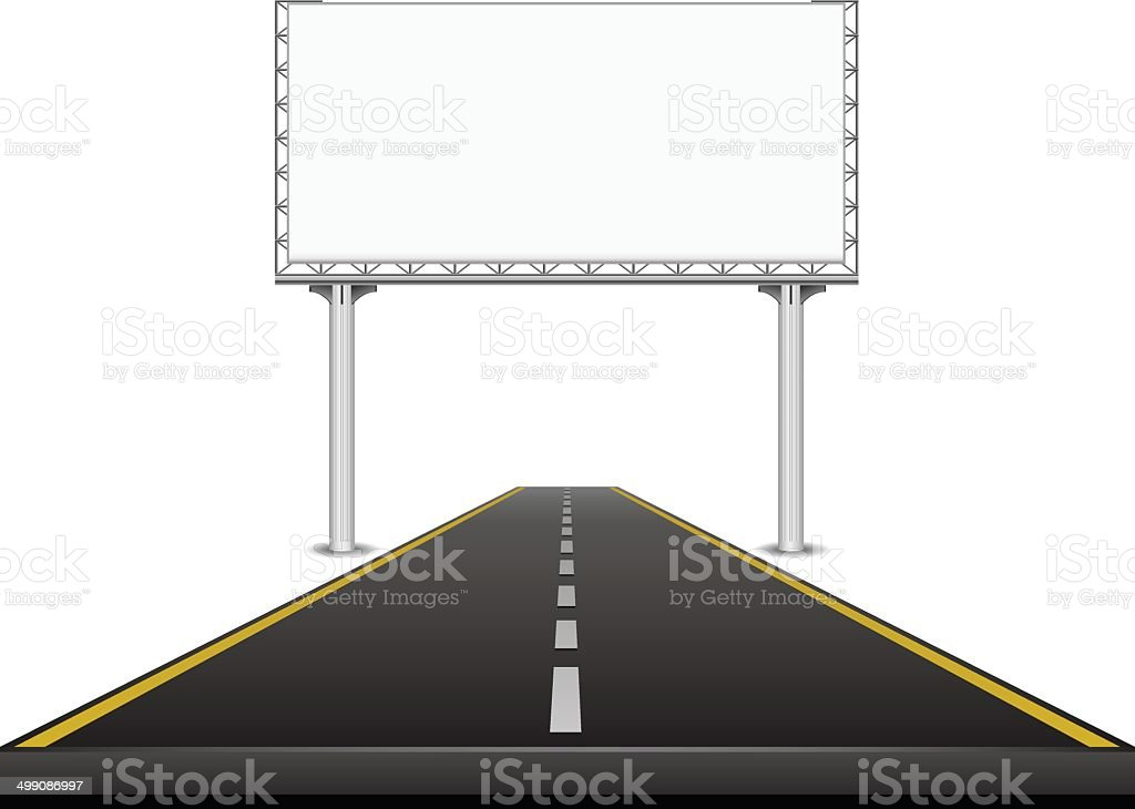 Billboard on the highway royalty-free stock vector art