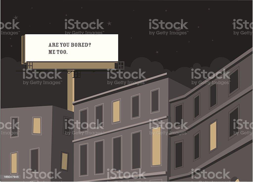 Billboard philosophy (night) royalty-free stock vector art