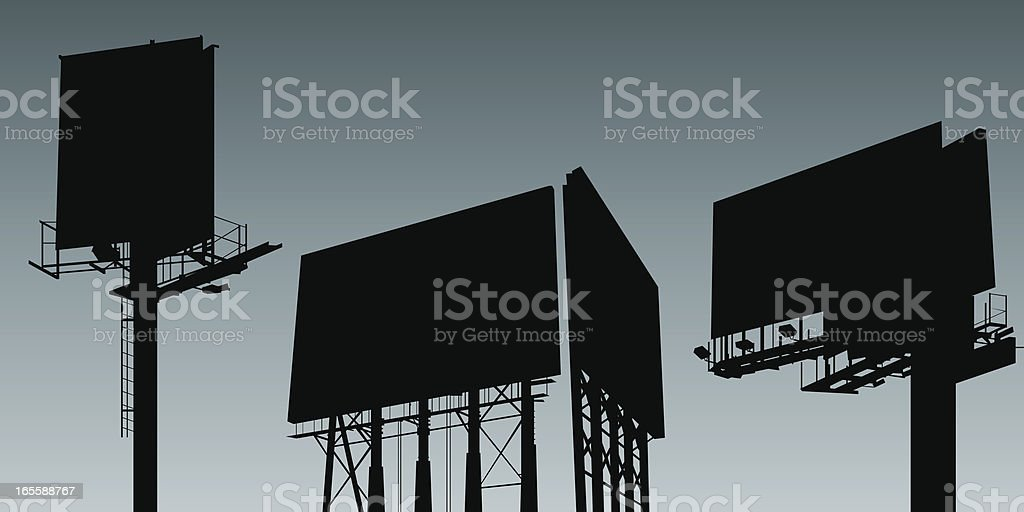Billboard Set royalty-free stock vector art