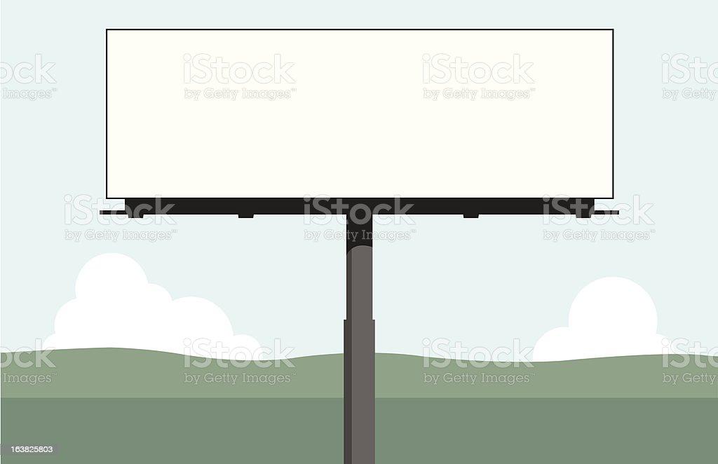 Billboard vector art illustration