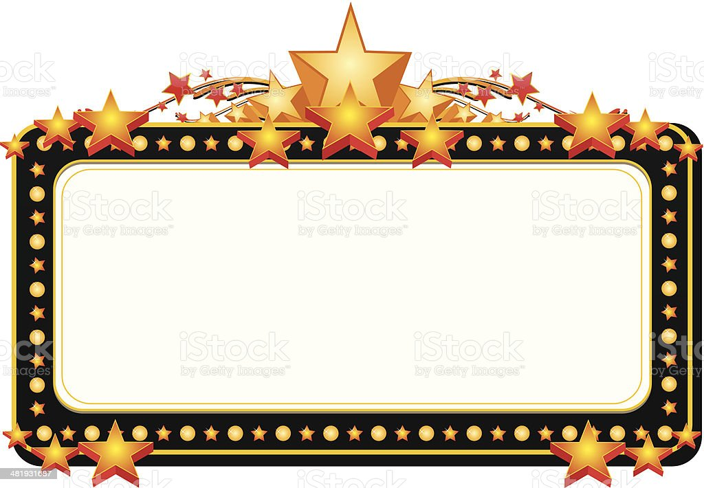 Theater Marquee Clip Art, Vector Images & Illustrations - iStock