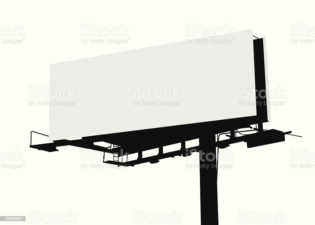 Billboard Vector Silhouette vector art illustration