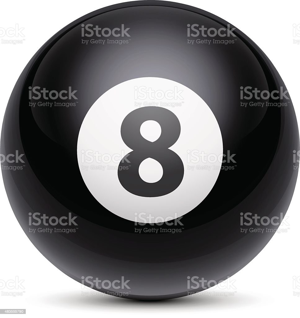 Billiard Ball Number Eight vector art illustration