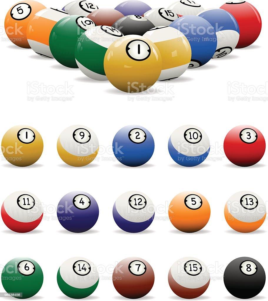 Billiard Balls Color royalty-free stock vector art