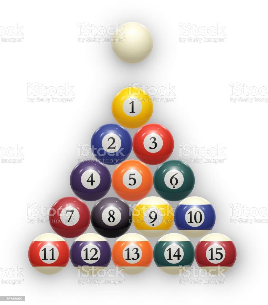 Billiard balls on white. Eps 10. vector vector art illustration
