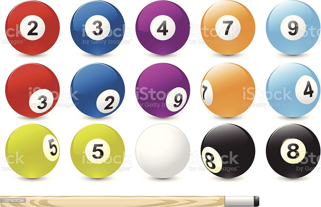 Billiard balls royalty-free stock vector art