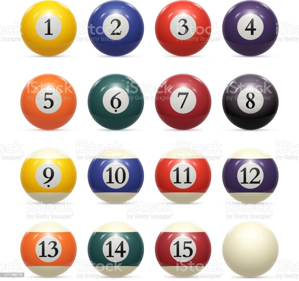 Billiard balls. vector vector art illustration