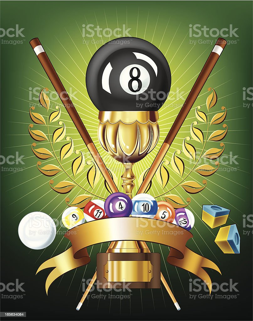 Billiard Golden Cup royalty-free stock vector art