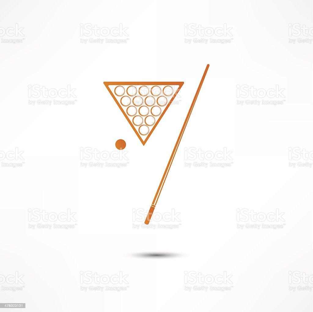 Billiard Icon royalty-free stock vector art